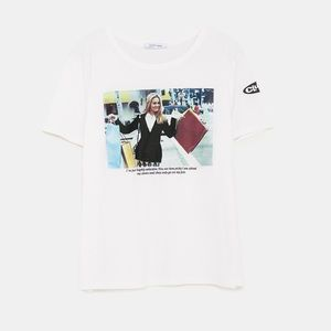White Zara Clueless Movie Shopping Shoes T Shirt